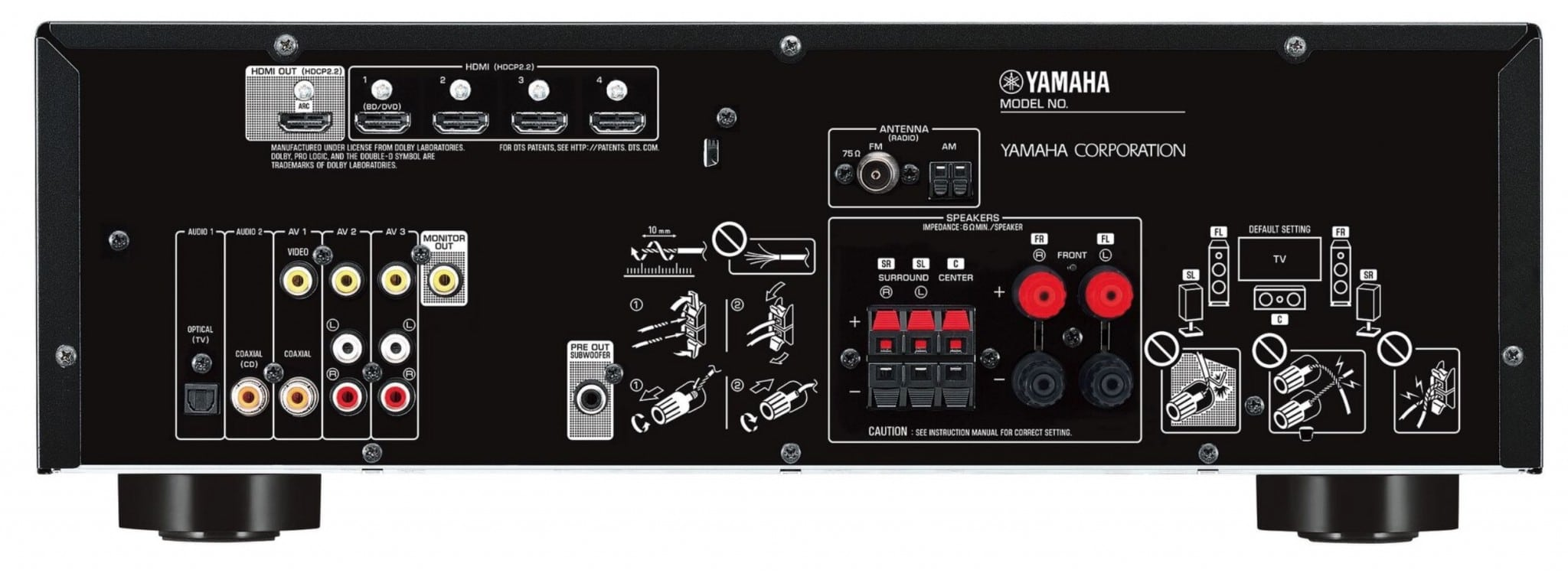 yamaha s entry level multi channel receivers the rx v383. Black Bedroom Furniture Sets. Home Design Ideas