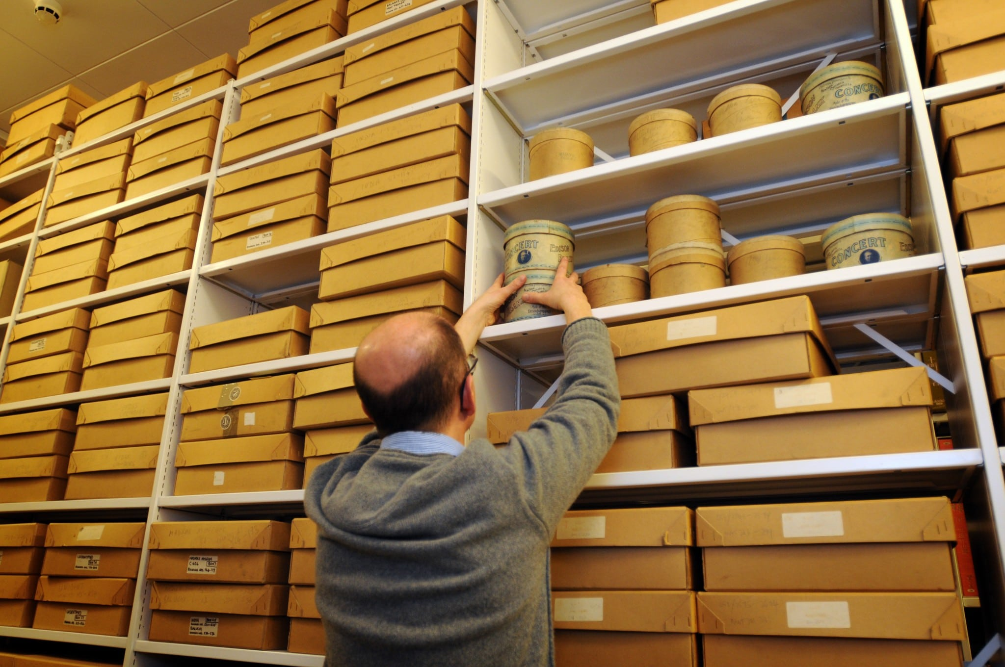 Sound Curator Will Prentice in the British Library's archive