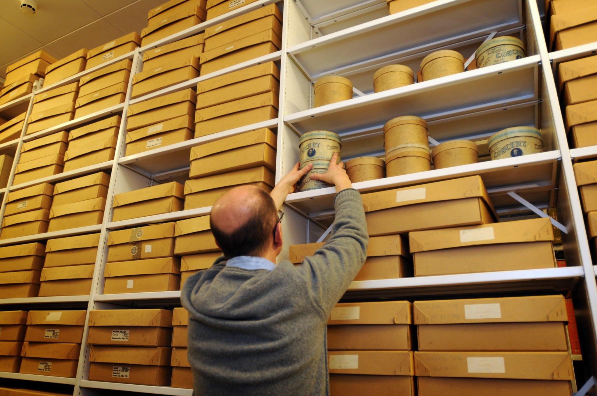Sound Curator Will Prentice in the British Library's archive