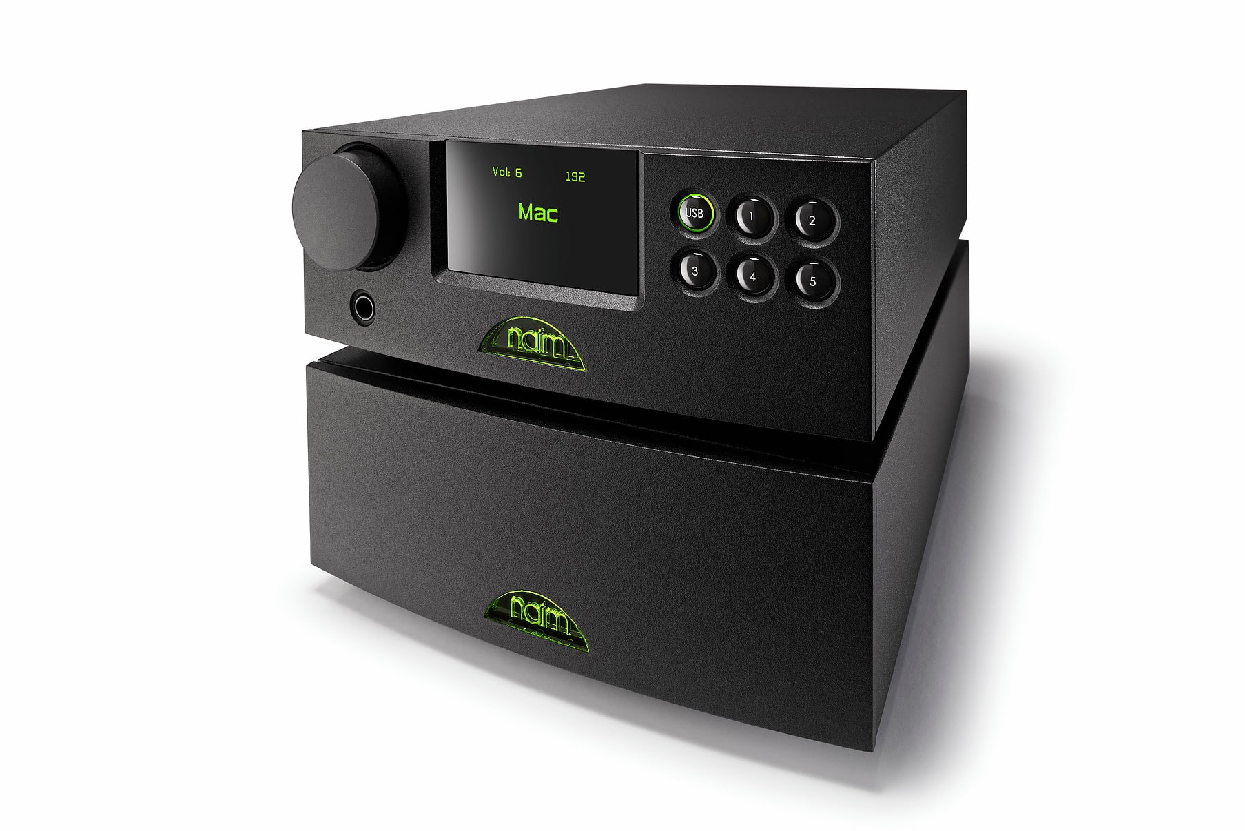 The V1 DAC (above) with the optional, external NAP 100 power amplifier (below; retailing at around £700)