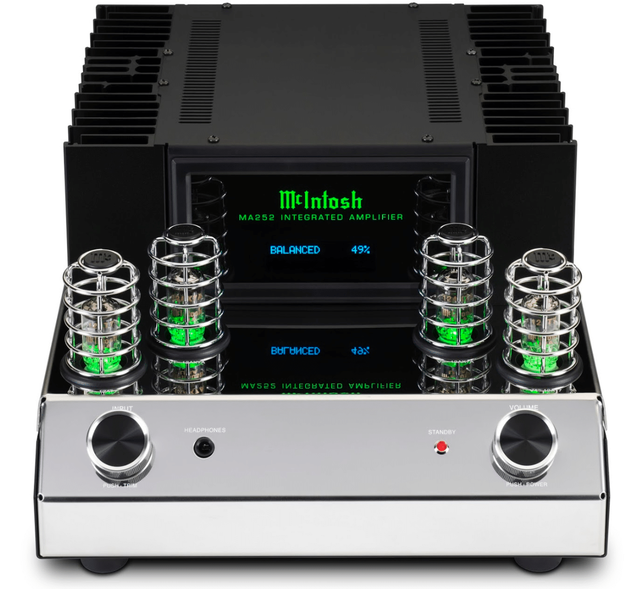 Mcintosh Ma252 Hybrid Integrated Amplifier The Audiophile Man 100 W Valve Audio Amplifiers Output Stage Is A Direct Coupled Solid State That Delivers 100w Plus Two Unbalanced One Balanced And Moving Magnet Phono