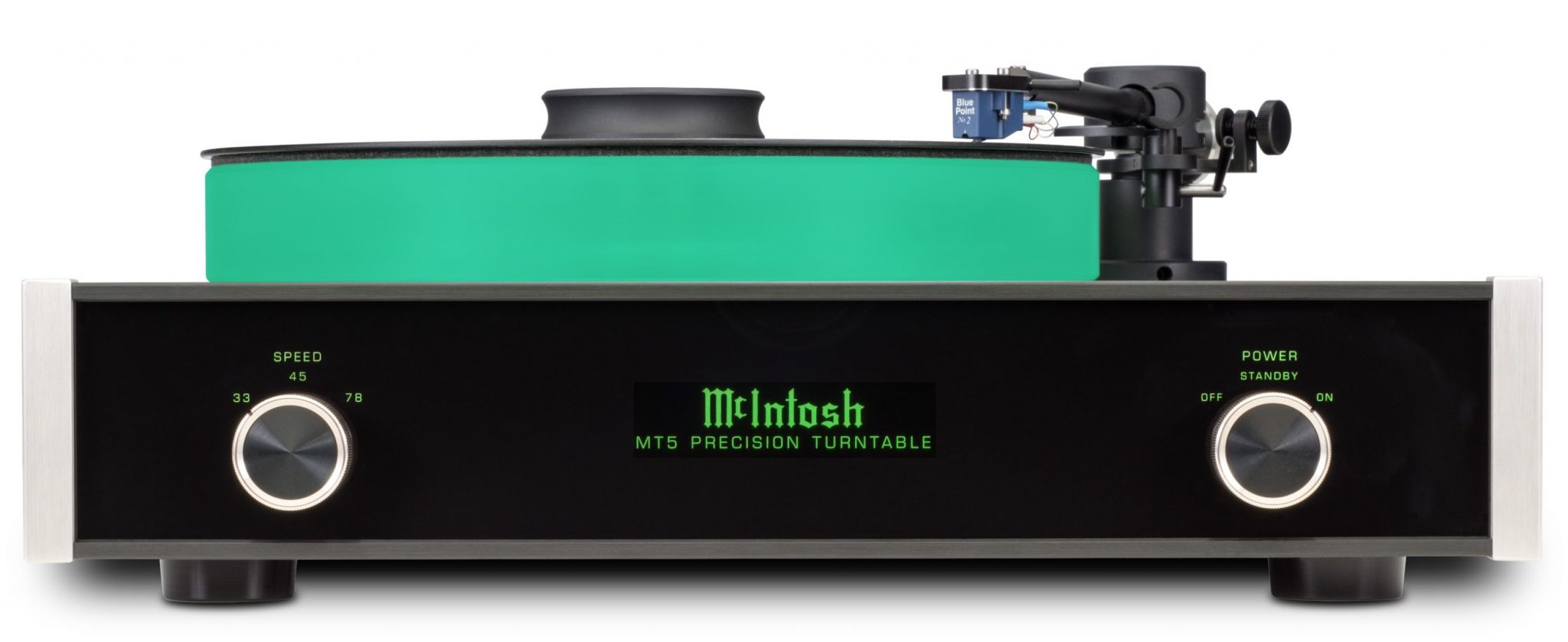 McIntosh MT5 Turntable: Turning Grooves Green