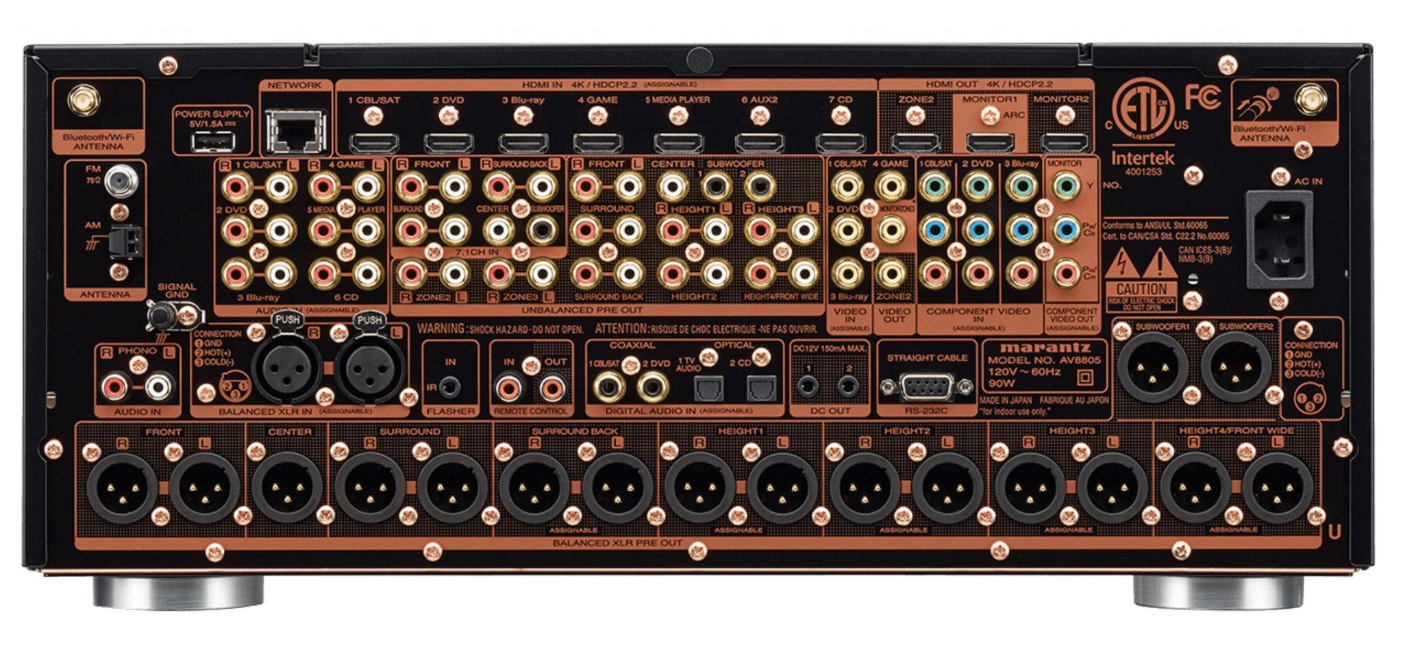AV8805 Full 4K Pre-amplifier From Marantz
