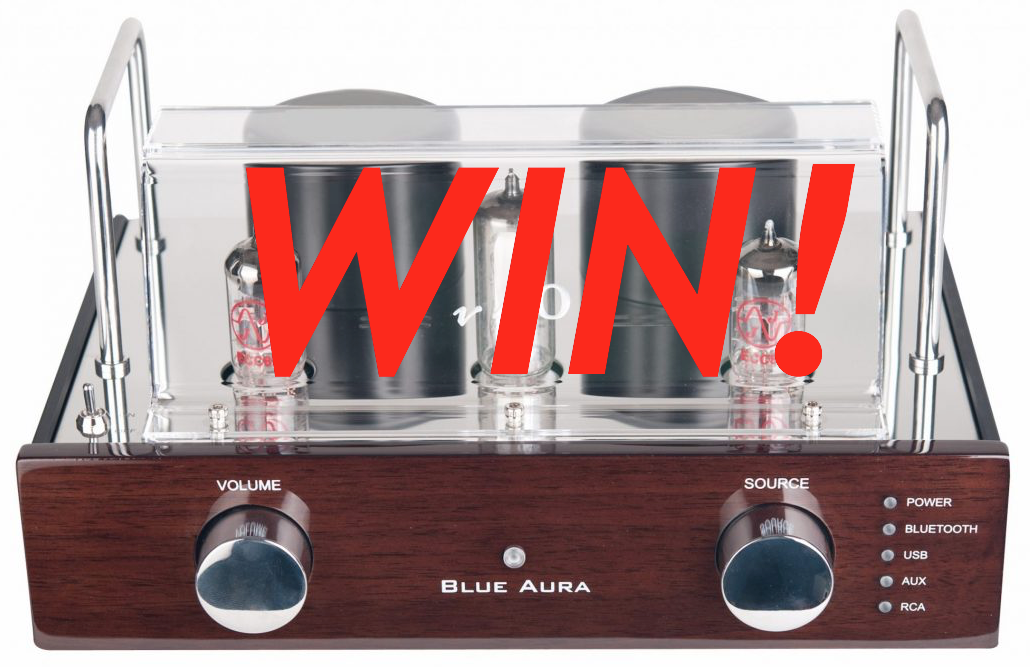 win blue aura v40 blackline amplifier amp hifi audiophile