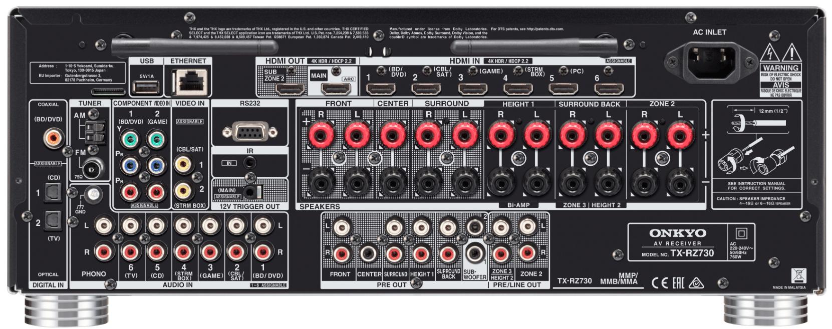 Onkyo RZ Receivers: TX-RZ730 & TX-RZ830