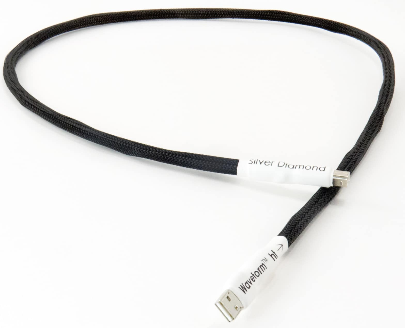 Silver Diamond Waveform hf USB Cable from Tellurium Q