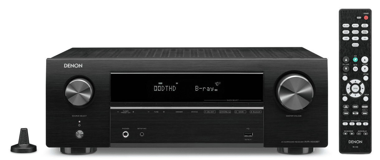 AVR-X550BT and AVR-X250BT from Denon