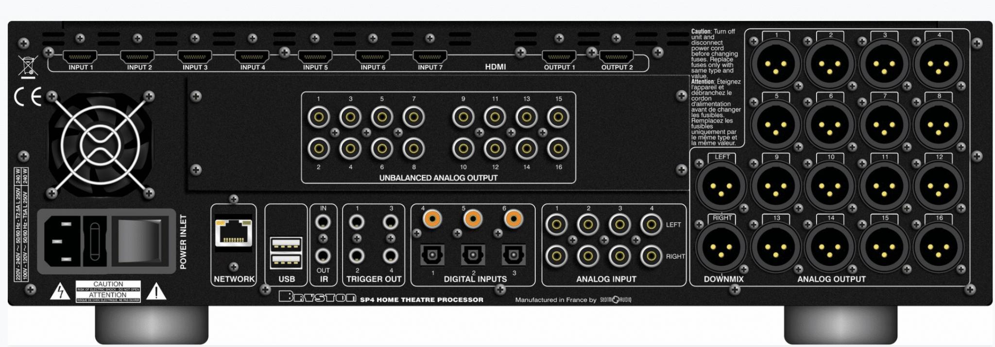 Spiksplinternieuw SP4 Surround Processor From Bryston - The Audiophile Man ZU-99