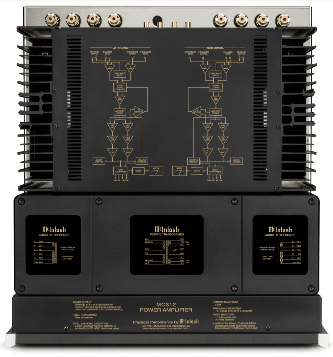 MC312 Stereo Power Amplifier From Mcintosh