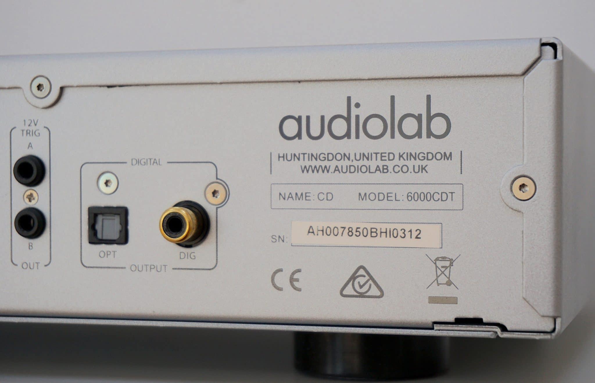 6000CDT CD Transport From Audiolab